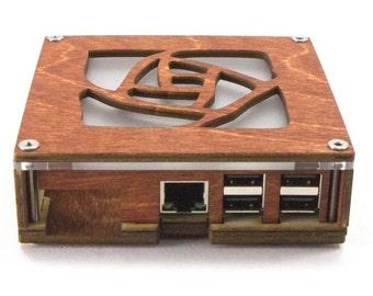 Pi Squared - for Raspberry Pi3, Pi2 and B+ Rose Design Top