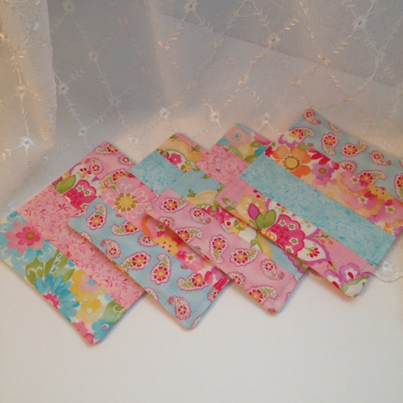 Mug Rugs Quilted Fabric Coasters Shabby Style Cottage Chic