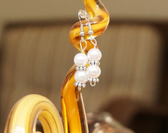 Cultured Pearl Earrings by Head Over Beads