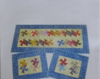 Pattern~Charmed Twister Table Runner & Placemats Pattern  Fast Shipping PT234