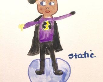 Static Shock, Lilymoonsigns, Purple Black,