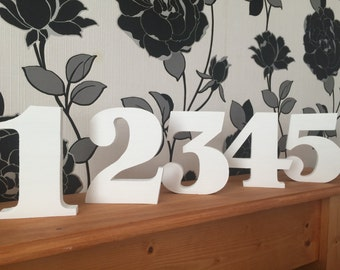 "New handmade 5.5""/13.5cm wooden freestanding table/wedding/party/birthday numbers"