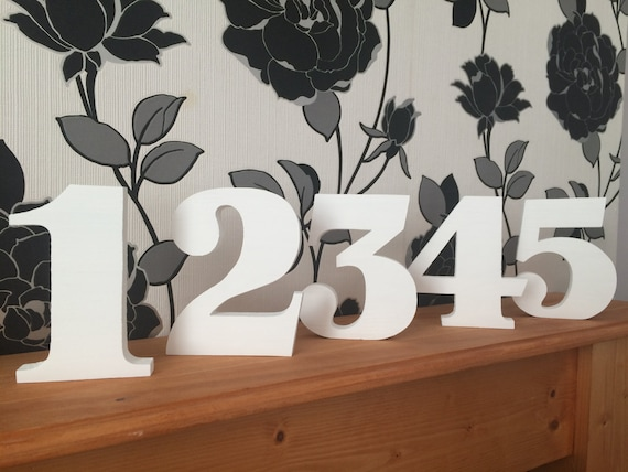"""New handmade 5.5""""/13.5cm wooden freestanding table/wedding/party/birthday numbers"""