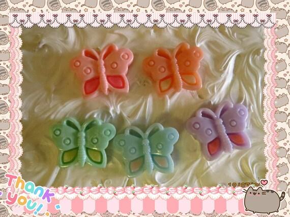 0: )- CABOCHON -( Rainbow Butterflies