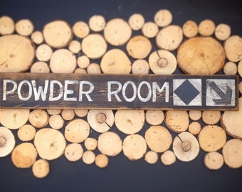 Powder Room Ski Run Sign