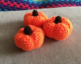 Miniature Crocheted Pumpkin - Finished Item