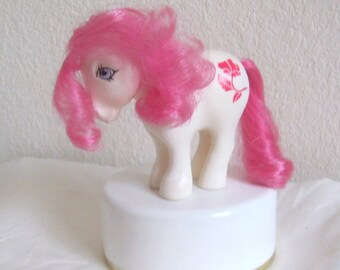 My Little Pony G1 RARE Birthflower Ponies: August Poppy Special Run Mail Order Limited Edition Pony