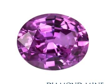 A Beautiful NaturalSapphire 1.72 Purple Oval Extra
