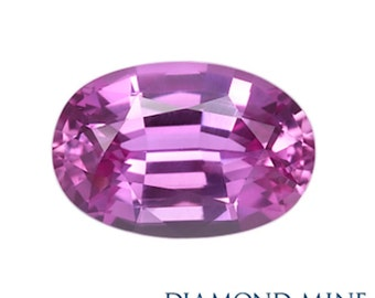 A Beautiful NaturalSapphire 1.24 Pink Oval Extra