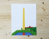 Paint By Number - 8x10 - Washington Monument - Washington, DC