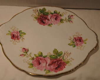 "Royal Albert American Beauty 10"" X 9"" Cake Plate"