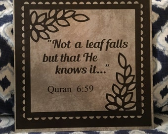 Islamic Wall Hanging // Quran // Home Decor // Beautiful Eid or Any Occasion Gift