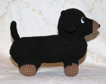 Dachshund - Handmade Amigurumi Crochet Dachshund