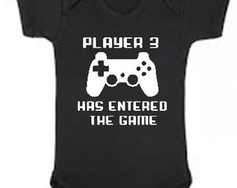 Player 3 has entered the game funny Baby bodysuit - perfect for any gamer - you choose size & color