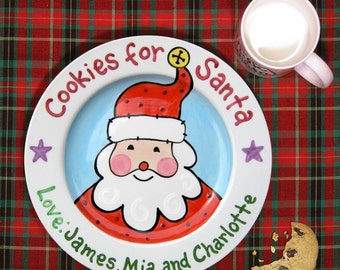Cookies for Santa - Cookies and Milk - Cookies for Santa Plate - Kids Christmas Gift - Family Christmas - Christmas Gift Ideas - Baby's 1st