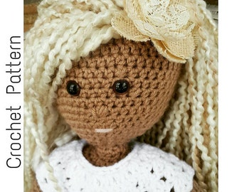 Crochet  Doll PATTERN | Goddess Doll Crochet Pattern | Amigurumi 18 inch Doll Crochet Pattern | Crochet Stuffed Doll Pattern |