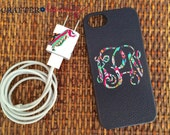 Preppy Print Tech Set - Monogrammed Smart Phone Case Decal and Matching Charger Wrap
