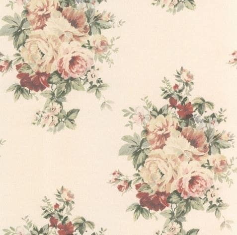 rose bouquet shabby floral wallpaper dusty red rose pink. Black Bedroom Furniture Sets. Home Design Ideas
