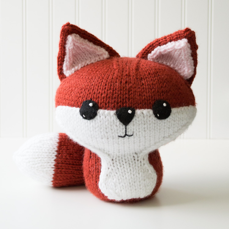 Knit Fox Amigurumi Pattern Forest Animal Amigurumi