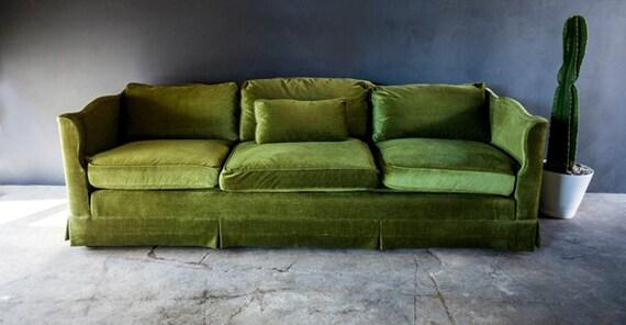 Vintage Green Henredon Sofa Couch