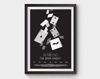The Dark Knight - movie poster print  - A3 (12x16') batman, dark knight, rise, art, print, movie, film, gotham, cards, joker