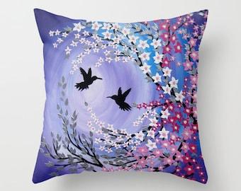 purple throw pillow, purple throw pillow case, purple pillow case, purple throw pillows, purple throw pillow cases, purple pillows, blossoms