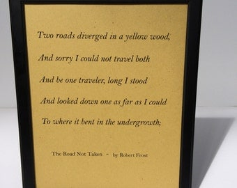 an appreciation of the poem the road not taken by robert frost Robert frost selected poems – 'the road not taken' and 'stopping by woods on a snowy evening' – analysis and appreciation robert frost was born in san francisco on the 26th march 1874 and.