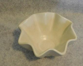 Hull White Ceramic Fluted Bowl