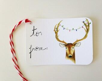 Christmas Gift Tags // Christmas Deer Gift Tags // Holiday Gift Tags