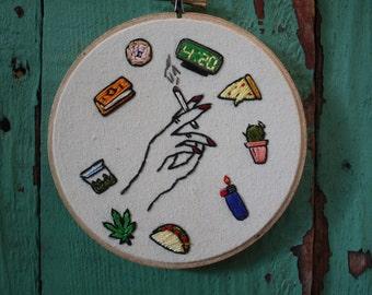 Stoner girl kit embroidery