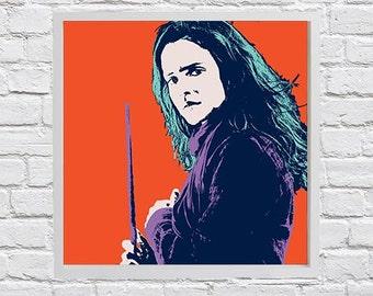 Hermione Granger Pop Art Print