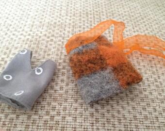 MOMOKO grey orange outfit set by Jing's Crafts