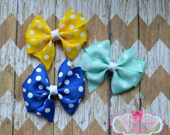 Colorful Polka Dot Pinwheel Set