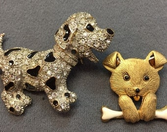 Two Cute Dog Brooches-Free Shipping!