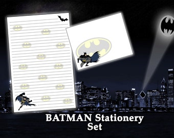 Batman Stationery - DC Comic Stationery