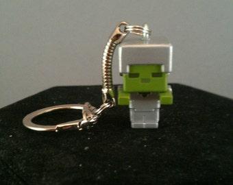 Minecraft keychains / Minecraft zombie keychain / Minecraft figure keychains / Minecraft gifts / Minecraft party / Minecraft zipper pull