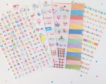 Korean alphabet Planner Stickers