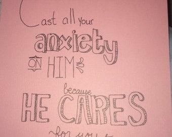 1 Peter 5:7 Scripture Art