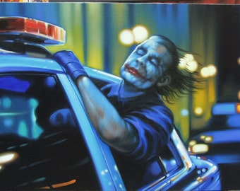 "Joker painting oil painting on canvas 24""X60"""