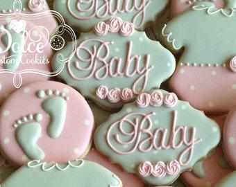 Baby Shower Ten Tiny Toes Cookies