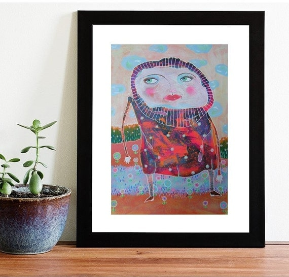 Quirky Wall Decoration : Nursery art print quirky artwork wall decor by artbeatricem