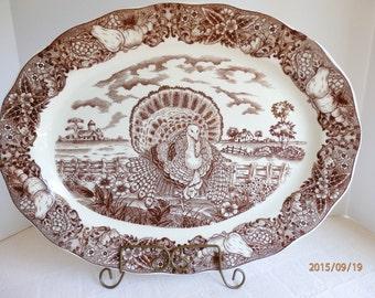 Sanyei 18 inch Serving Platter from Japan. Thanksgiving Serving Platter