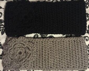 Headband/Earwarmer w/Flower