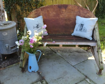 Industrial up cycled garden bench