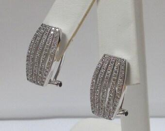 Cubic Zirconia Stone Earrings 925 Sterling Silver