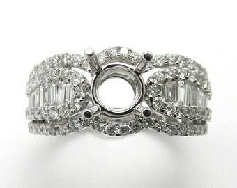 Engagement Ring Genuine Diamond 18kt White Gold