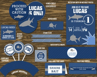 Shark Party Ultimate Party Package - Printable
