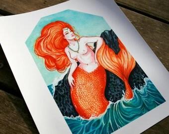 Orelia - 8 x 10 Inch Mermaid Print