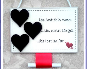 Diet weight loss chalkboard plaque slimming world/weight watchers-slimming aid UK FREE POSTAGE
