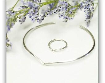 Sterling Silver Bracelet, Handmade Bangle, Delicate Bangle, Light Bangle, Handmade Jewelry.